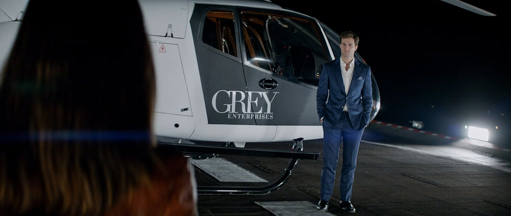 A helicopter looks good on him.