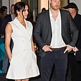 Meghan Markle's Maggie Marilyn Tuxedo Dress October 2018