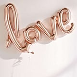 Rose Gold Love Balloon ($10)
