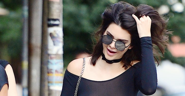 kendall jenner nipple piercing pictures in nyc popsugar