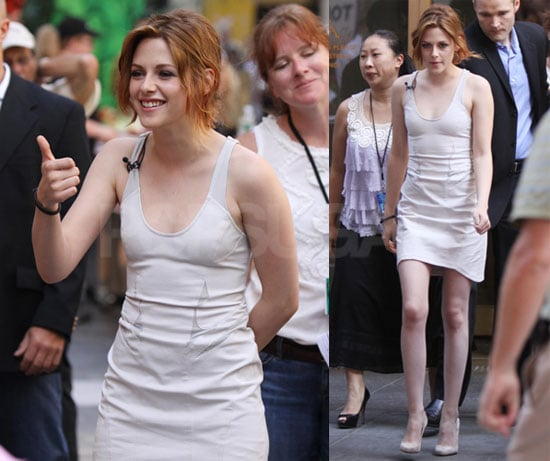 Kristen Stewart at The Today Show and Regis and Kelly