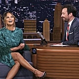 Chrissy Teigen's Green Dress on The Tonight Show 2019