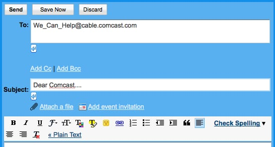 Comcast Corporate Email Address Can Help Frustrated Comcast Customers