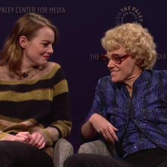Emma Stone Laughs During SNL Skit 2016