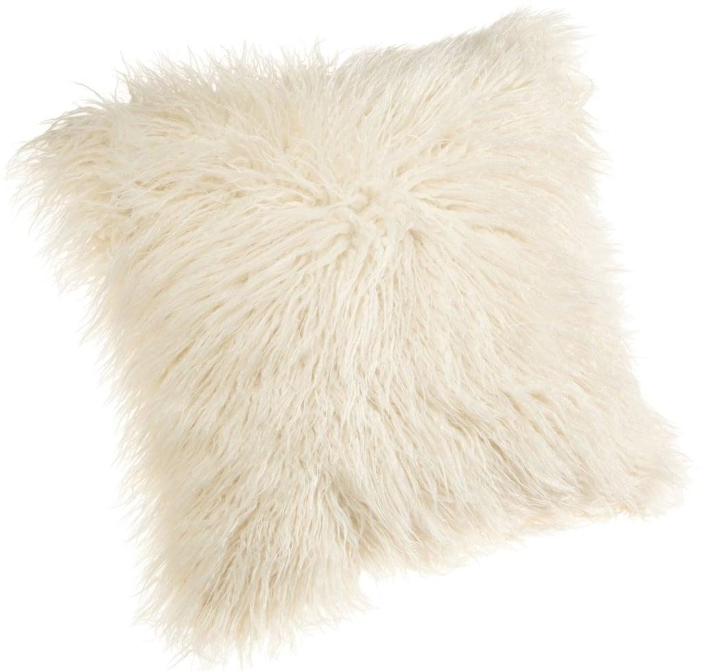 Mongolian Faux Fur Throw Pillow ($22)