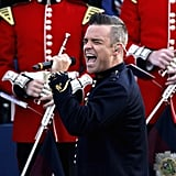 Robbie Williams belted one out for the Queen at the Diamond Jubilee concert in London.