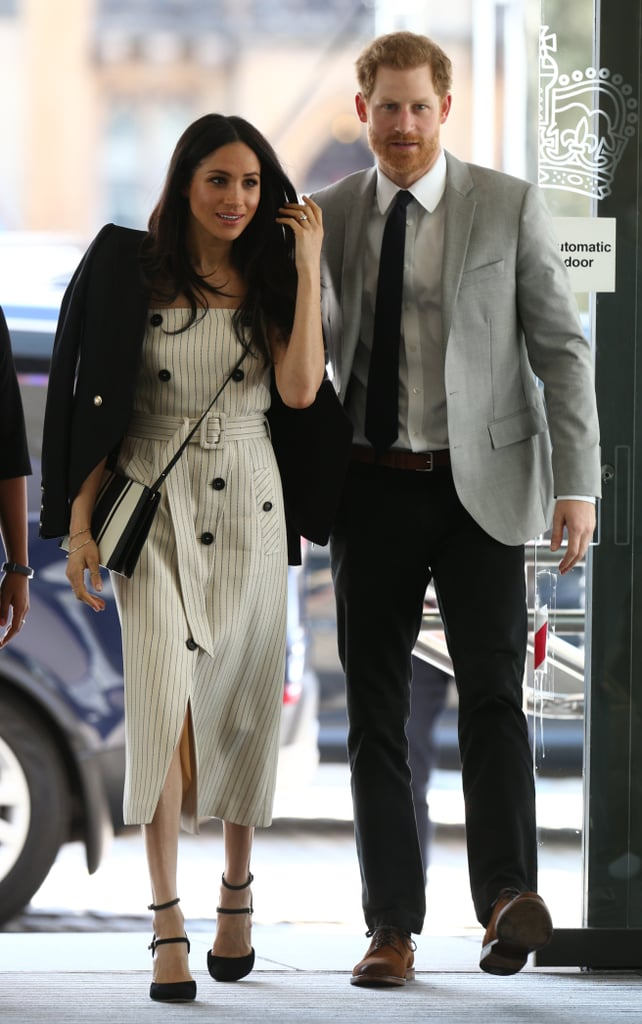 Prince Harry continued his busy week of Commonwealth-related events on Wednesday as he attended a reception for the Commonwealth Youth Forum. And this time around, he had his fiancée Meghan Markle at his side. The royal couple were all smiles as they made their way into the event at the Queen Elizabeth II Conference Centre in London. It was great to see the stylishly dressed pair enjoying a spot of sunshine after so many earlier appearances wrapped up against the cold. They must be crossing their fingers that the beautiful weather the UK is currently experiencing continues right up to their May 19 wedding!