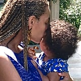 Beyoncé showed Blue love on vacation.  Source: Beyoncé on Tumblr