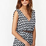 Nasty Gal's Ziggy wrap romper ($48) is perfect for strolling the streets during the day.