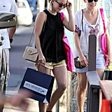 Julianne Hough went shopping in St. Barts.