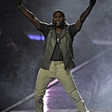 Whether he's on stage or on the streets, Usher delivers style like no other hip-hopper. The leather vest, high-top sneakers, dog tag necklace, fingerless gloves — it all works.