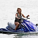 Julianne Hough out on a jet ski.