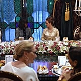 Michelle Obama spoke with Moroccan Princess Lalla Salma with Meryl Streep and Freida Pinto in attendance.