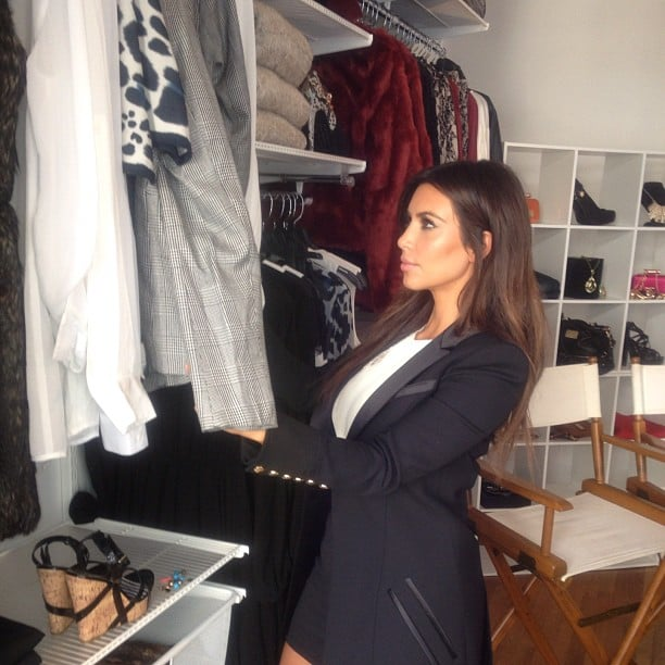 Kim Kardashian rifled through the Kardashian Kollection . . . collection. Source: Instagram user kimkardashian