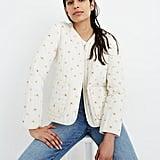 Cotton Quilted Zip-Up Liner Jacket