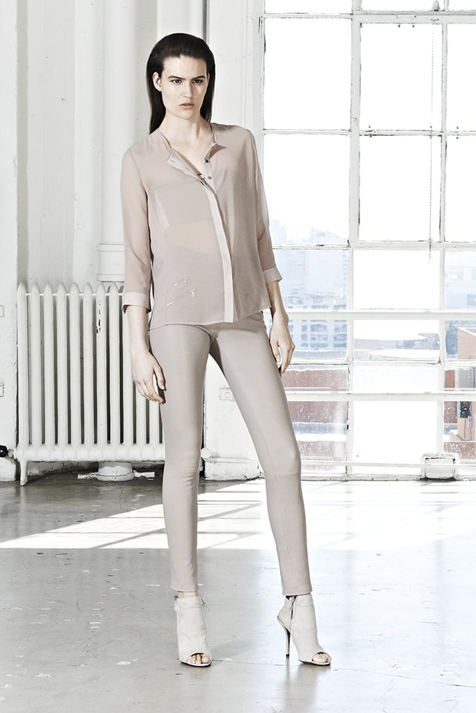 Who said beige is boring? This J Brand ensemble proves otherwise.
