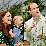 Kate and William joined George at London's Natural History Museum for the candid family moments.