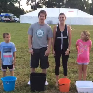 Mark Wahlberg and His Family Ice Bucket Challenge Video