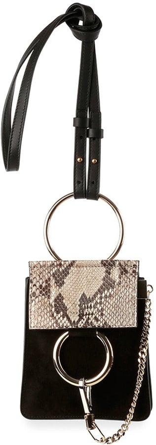 Chloé 'Faye' Python & Suede Mini Crossbody Bag ($1,290)