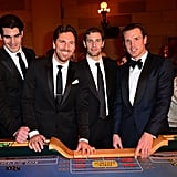 Brian Boyle, Henrik Lundqvist, Dan Girardi, and Brad Richards
