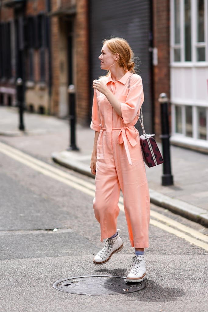 The Outfit: A Jumpsuit + Bag + Boots