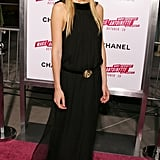She wowed in this simple black floor-length gown at the Marie Antoinette premiere.