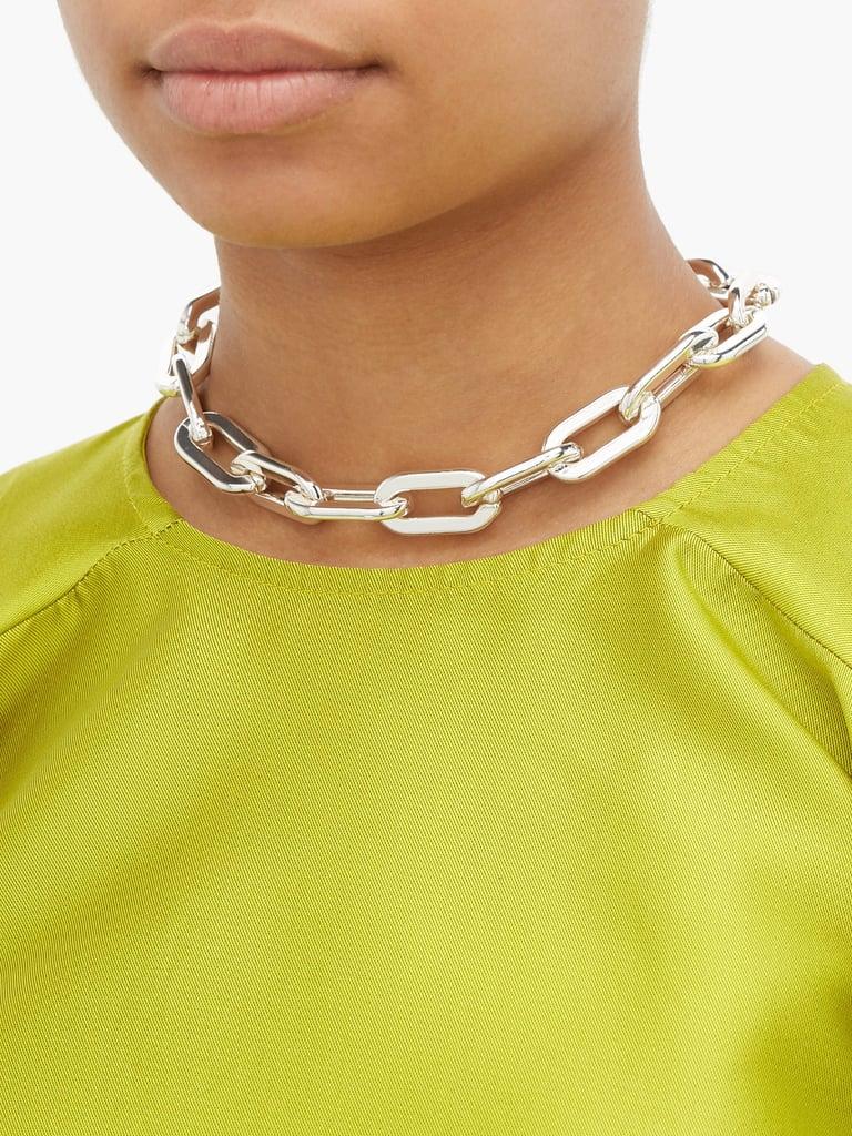 Marques' Almeida Chunky-Chain Silver-Plated Choker