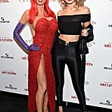 She dressed up as Sandy from Grease for Heidi Klum's annual Halloween bash, where she posed with the hostess — who went as Jessica Rabbit.