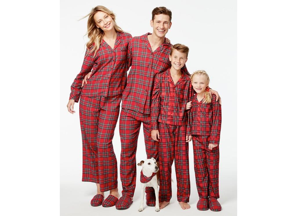 plaid pajamas for family