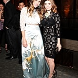Irene Neuwirth and Kate Mara (wearing Dolce & Gabbana) at Vera Wang's Lifetime Achievement Award Celebration in New York. Photo: Benjamin LozovskyBFAnyc.com