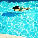 Nicole Warne from Gary Pepper Vintage took a dive into a crystal-clear pool on a super hot day in Oz. Source: Instagram user garypeppergirl