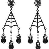 George Halloween Spider Web Earrings