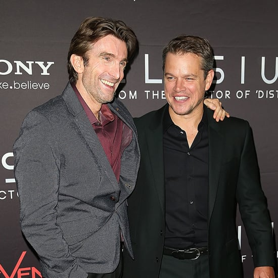 Matt Damon and Sharlto Copley at Elysium Sydney Premiere