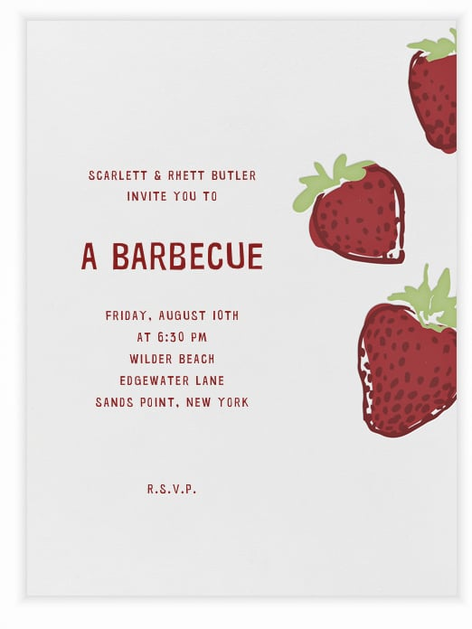 Celebrate the sweet taste of Summer with this delicious strawberry invite (free).