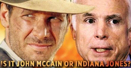 New Radar Quiz! McCain or Indiana Jones! It's On Now. . .