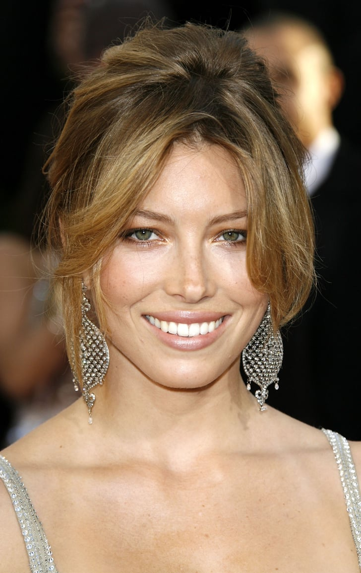 Jessica Biel 2007 Best Golden Globes Hair And Makeup