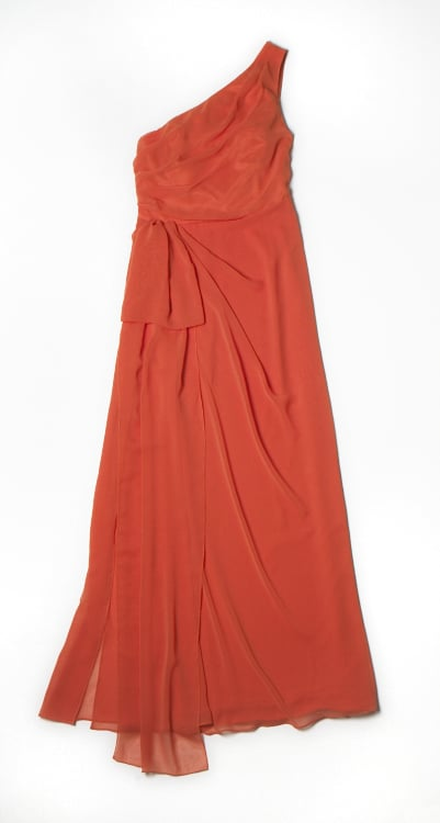 Alberta Ferretti for Macy's Impulse Orange One-Shoulder Gown ($99)