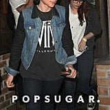 Kristen Stewart and Tamra Natisin went to a concert at Hotel Cafe.