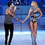 When Adam Levine serenaded his then girlfriend Anne V down the runway in 2011