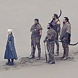 Of course, she's brought her Dothraki posse.