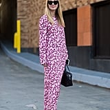With a Long Floral Maxi and Dark Accessories