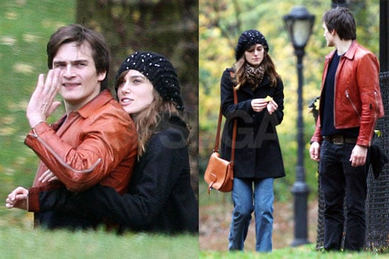 Photos of Keira Knightley and Rupert Friend in NYC's Central Park