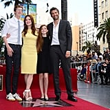 Julianne Moore and her family, Bart, Caleb, and Liv Freundlich, joined her at the star ceremony.