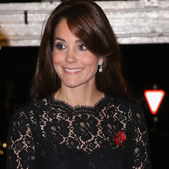 Kate Middleton Wearing Black Lace Dress
