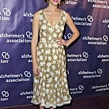 Emmy Rossum wore a floral dress.