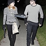 Mike Comrie and Hilary Duff made a cute couple of cat burglars.