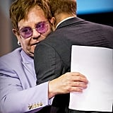 Harry hugged Sir Elton John during the 2018 International AIDS Conference in Amsterdam.