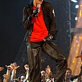 "When he performed ""Like I Love You"" at the 2002 MTV VMAs."