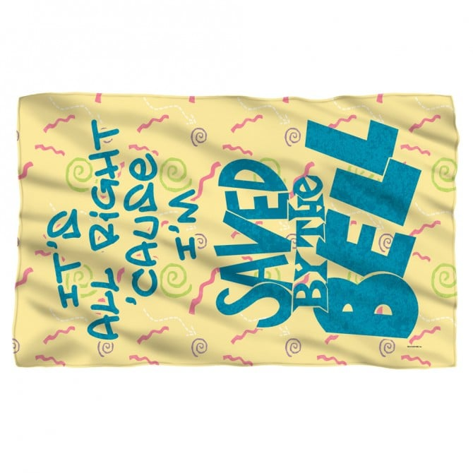 Saved by the Bell Fleece Blanket ($35)