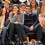 Jessica and Cash watched the New York Knicks take on the Cleveland Cavaliers in NYC in March 2011.